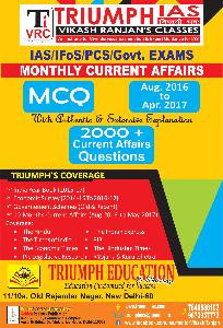 Triump IAS Monthly Current Affairs (Aug 2016 to Apr 2017)